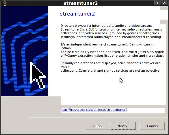 streamtuner2: windows